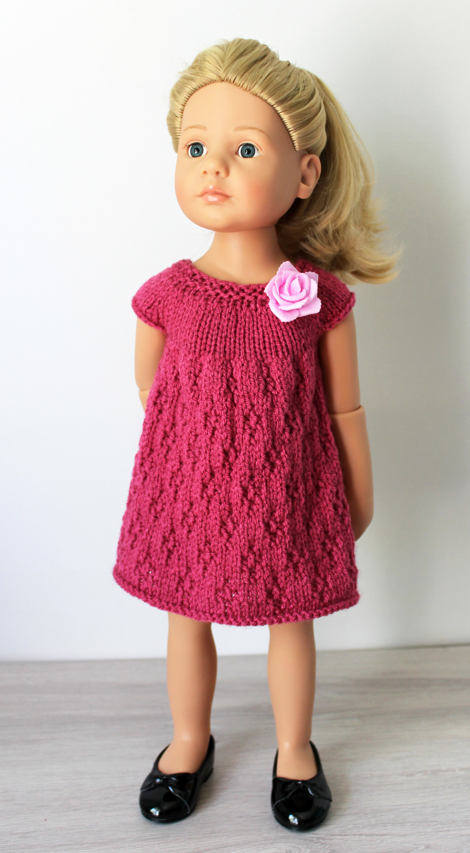 Knitting Pattern for Two Dresses for 18-inch dolls like ...